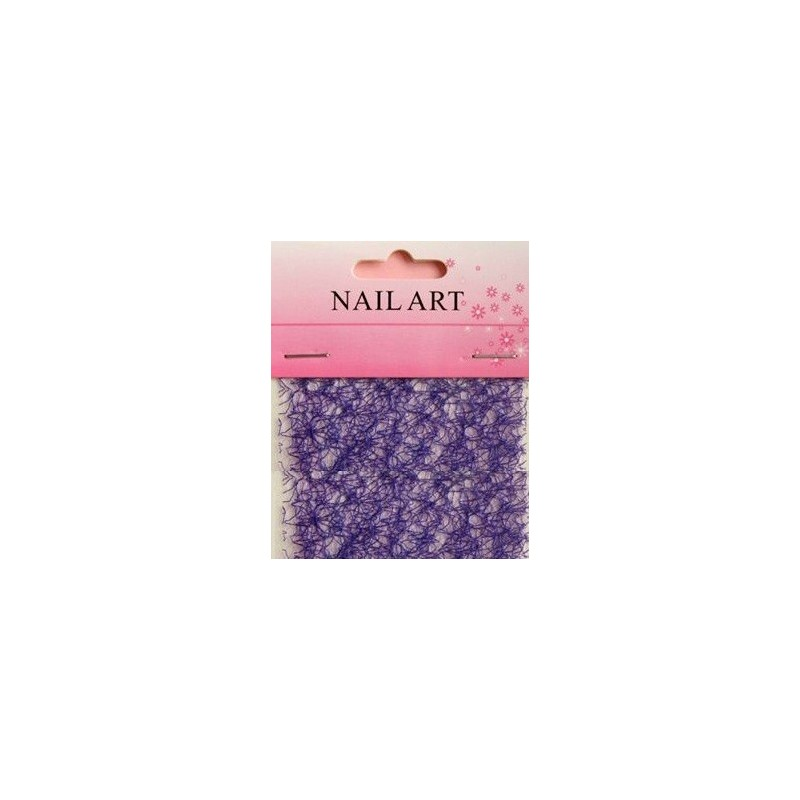 600 - Nail Art Spider Net Dark Blue