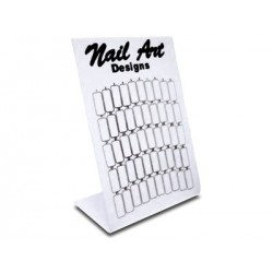 Nail Art Tip Display White S