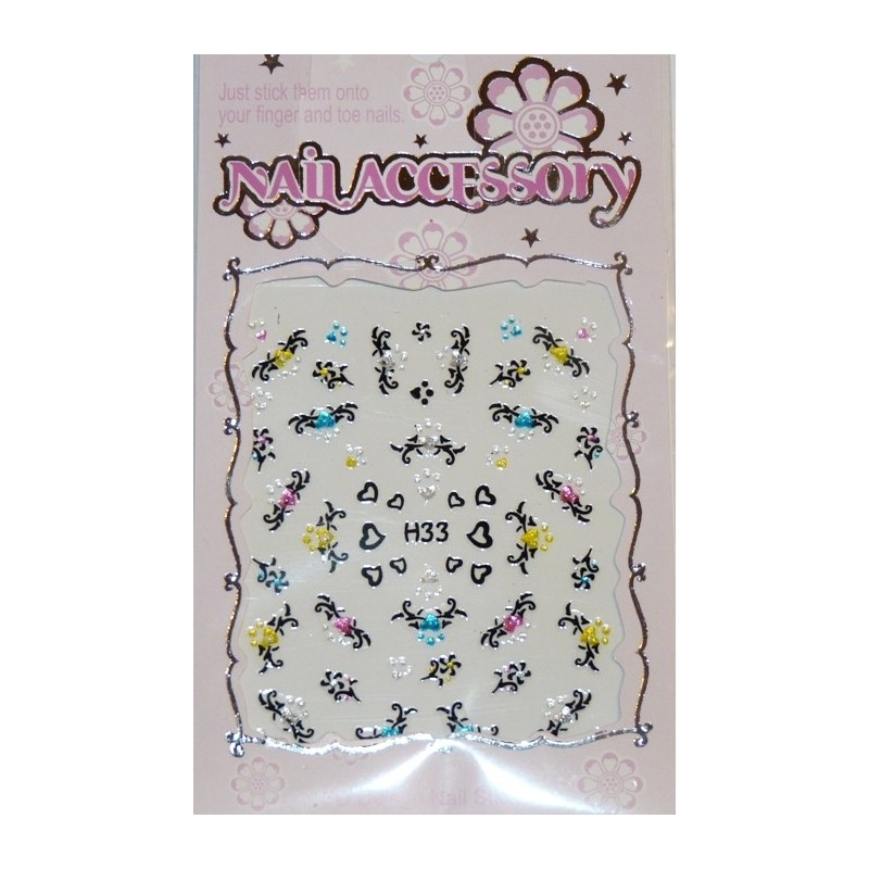 Black Stickers With Rhinestones nr.17