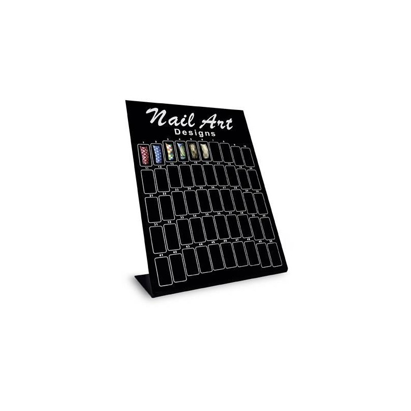 Nail Art Tip Display Black S