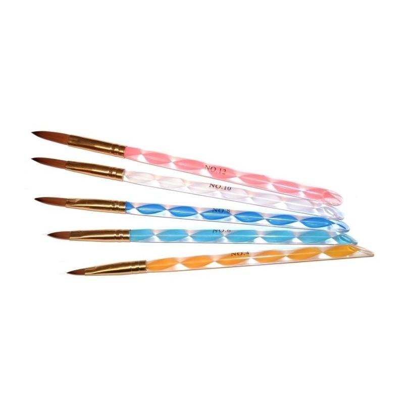 Acrylic Brush Kit 5psc. nr.2,4,6,8,10