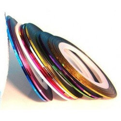 Striping Tape 10pcs. Kit(ca 1mm bred)