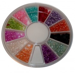 Half Pearls Multicolored in wheel