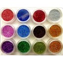 Glitter set nr.1, 12colors in box