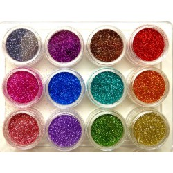 Glitter set nr.2, 12colors in box