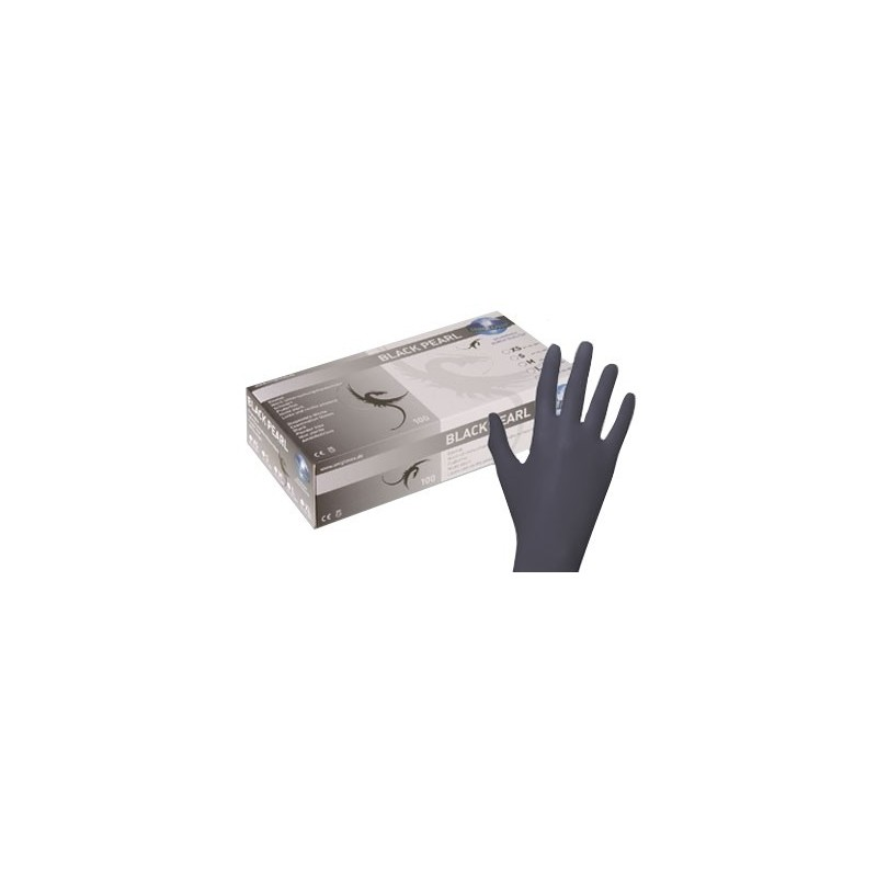 Nitril Gloves - Pearl Black 100 pcs.(Large/medium/small/XSmall)