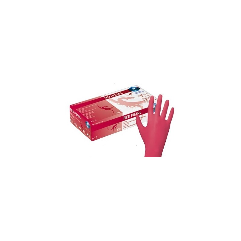 Nitril Gloves - Pearl Red 100 pcs.(small)