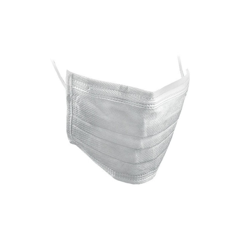 Face Mask, three layer - White 50pcs