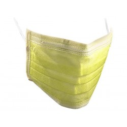 Face Mask, three layer - Yellow 50pcs