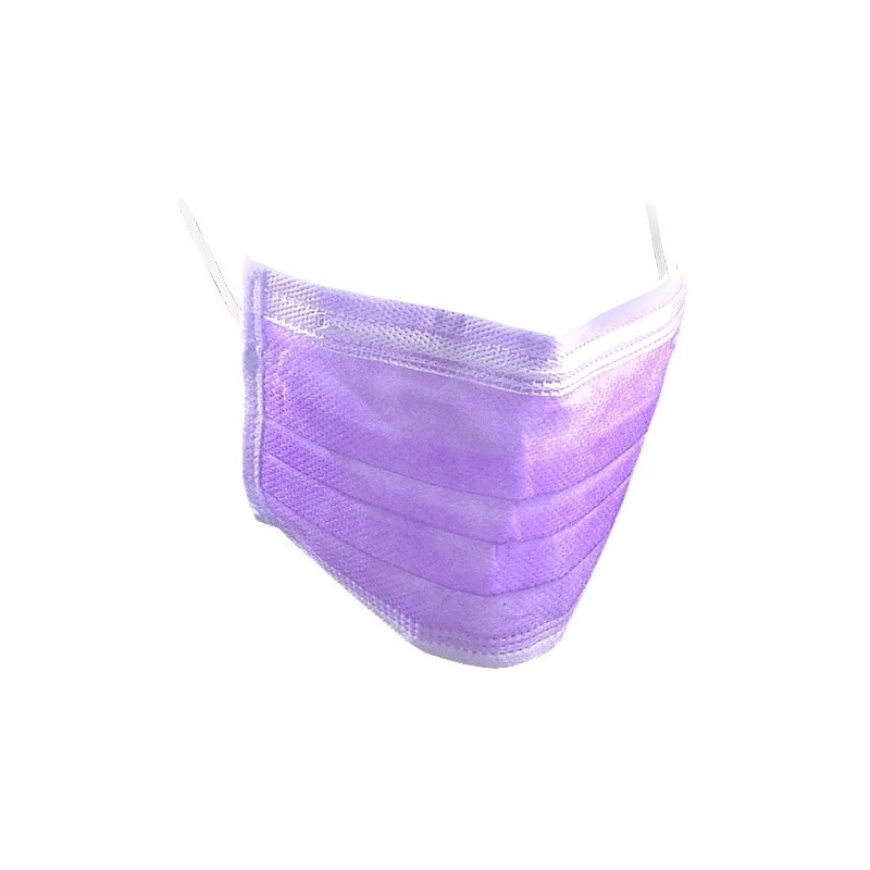 Face Mask, three layer - Violet 50pcs
