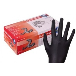 Latex Gloves - Black Mamba (large/medium/small)