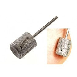 Hard skin abrader, sapphire medium