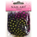 Nail Art Feather Multicolor