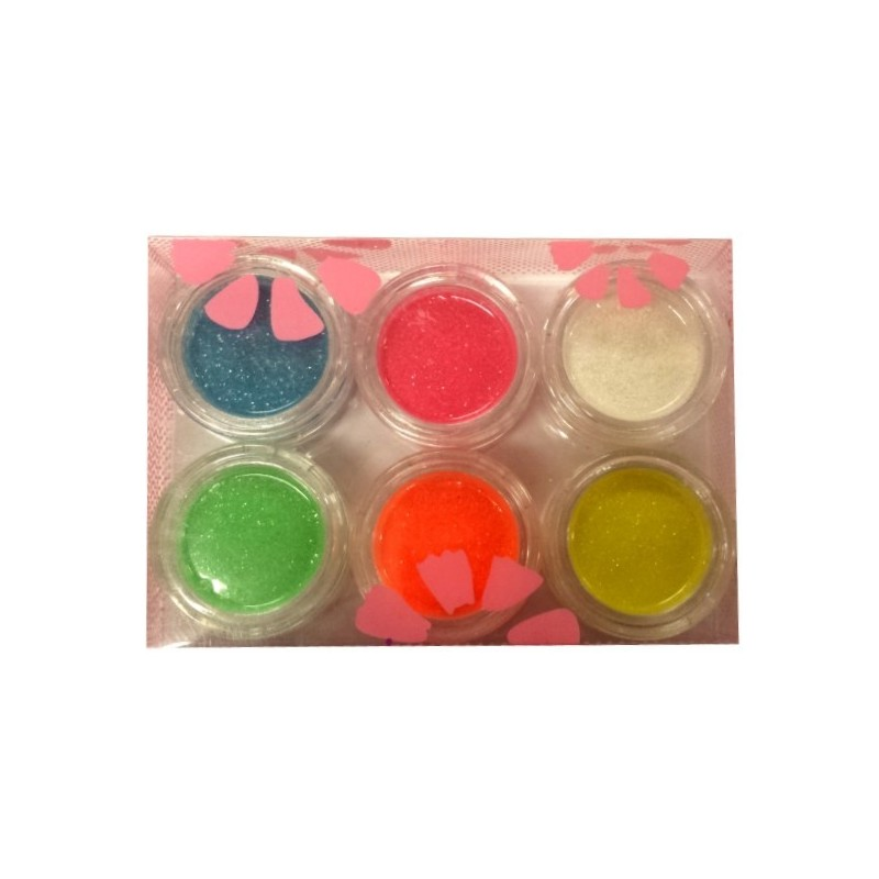NEON Fine Glitter Kit 6 jars