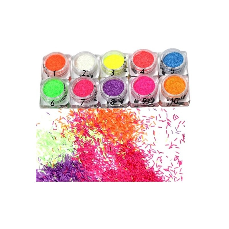 NEON Long Glitter Kit 10 jars