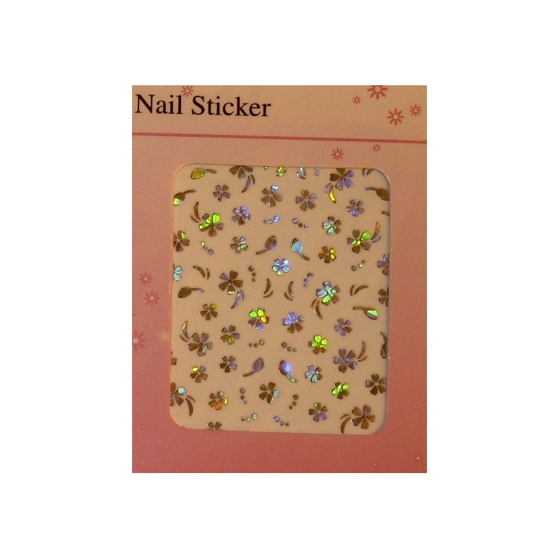 Silver Holographic Stickers - 6