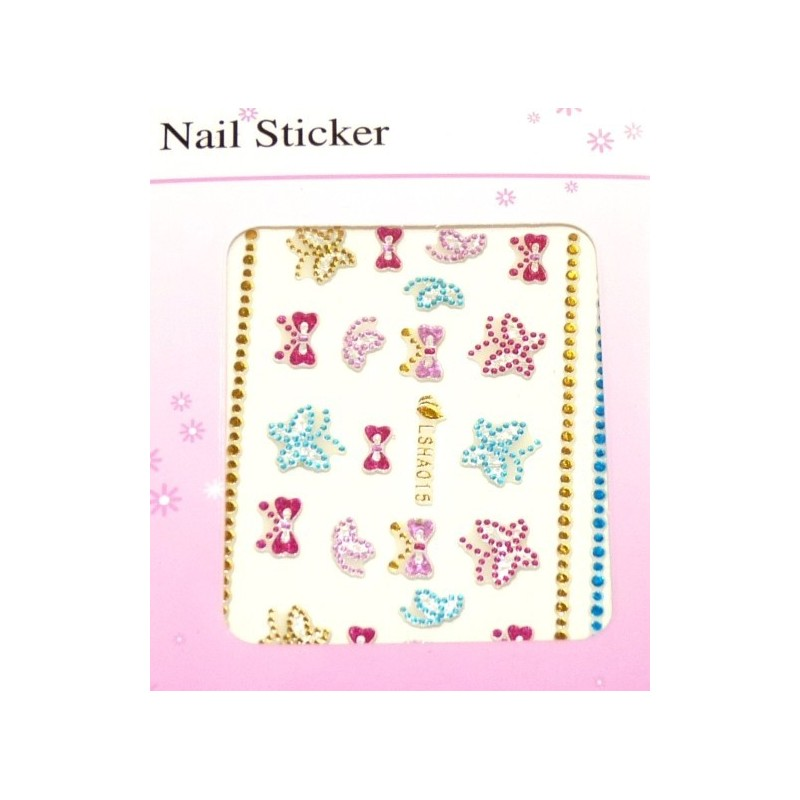 Colorful Gold Stickers 6