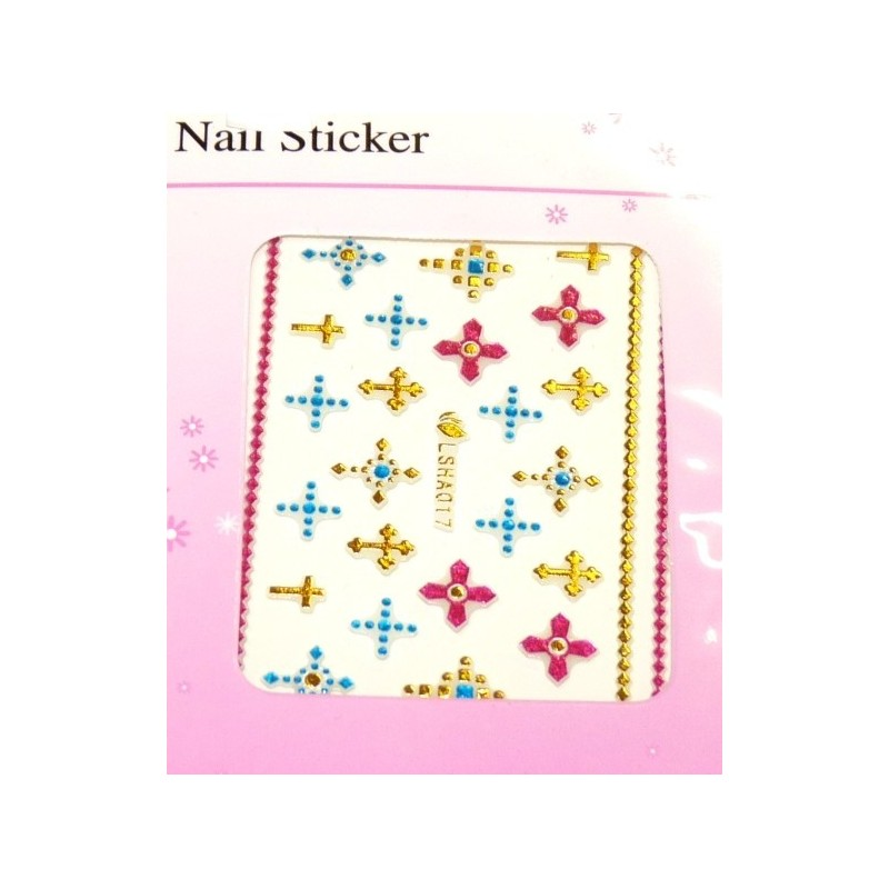 Colorful Gold Stickers 12