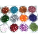 MIX Glitter set nr.7, 12colors in box
