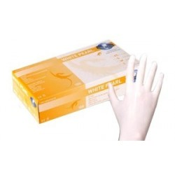 Nitril Gloves - Pearl White 100 pcs.(medium/small)