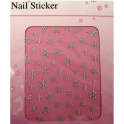 Silver Stickers Snowflakes - 14