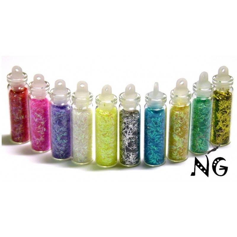 Long Glitter set 10 colors in mini bottle (ca 2.5ml)