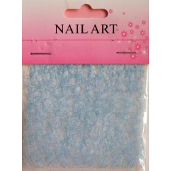400 - Nail Art Spider Net Light Blue