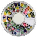 Assorted Fimo flower-2 in Rondell