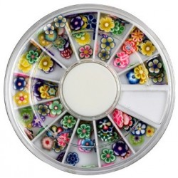 Assorted Fimo Flowers-2 in Rondell