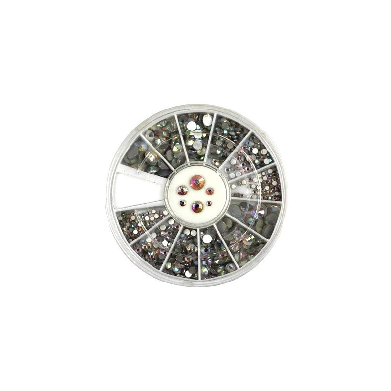 Rhinestones Crystal AB in Wheel(136)