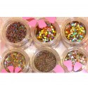 Nail Art Mix 6 jars Kit