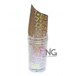 50 Silver Square - Nail Art Foil Roll