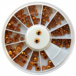 Rhinestones Gold in Wheel(130)