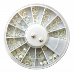 Rhinestones White AB in Wheel