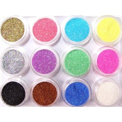 Glitter set nr.5, 12colors in box