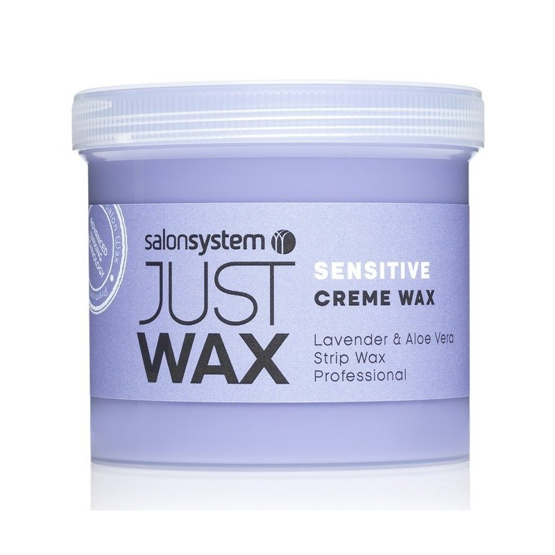 Just Wax - Sensitive Lavender and Aloe Creme Wax 450g