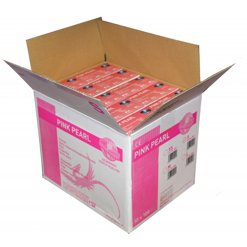 10x100pcs. Nitril Gloves - Pearl Pink (Large/medium/smal/EXsmall)