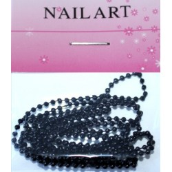 14 Black - Nail Art Chain in Bag