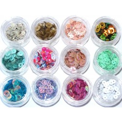 Hollow Round Dazzling 12 jars Kit