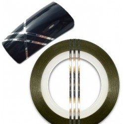 Striping Tape Silver Bred(ca 2mm)