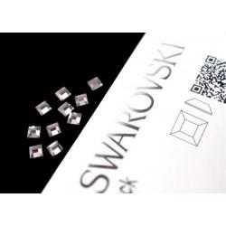 2400 Swarovski Square - Crystal 10st (4mm)