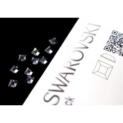 2400 Swarovski Square - Graphite 10st (4mm)