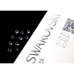 2400 Swarovski Square - Graphite 10st (3mm)