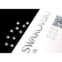2400 Swarovski Square - Crystal 10st (3mm)