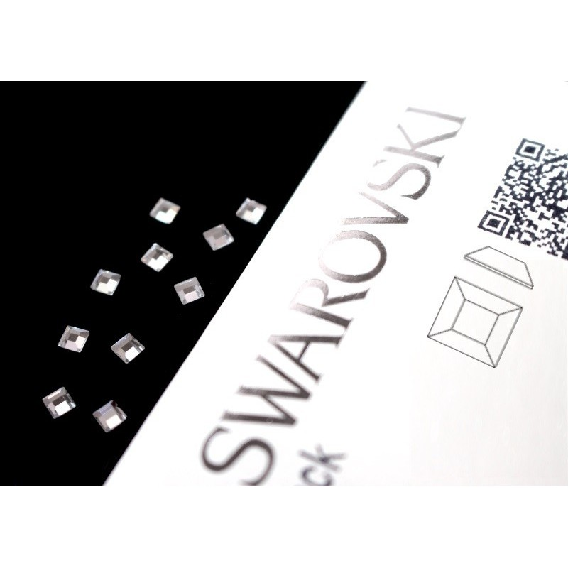 2400 Swarovski Square - Crystal 10st (3mm)