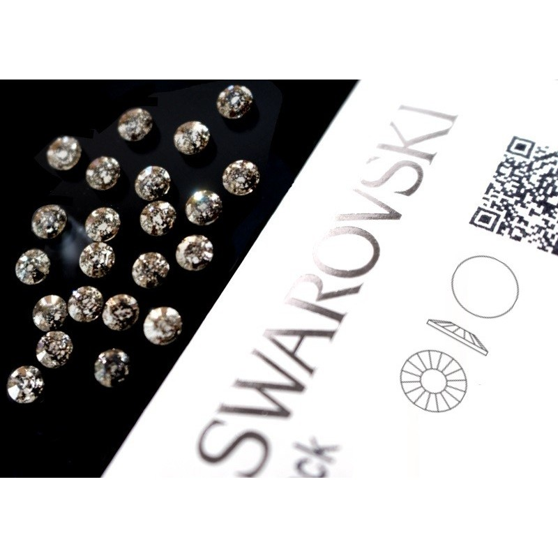 2034 Swarovski - Crystal Black Patina 40st (4.8mm)