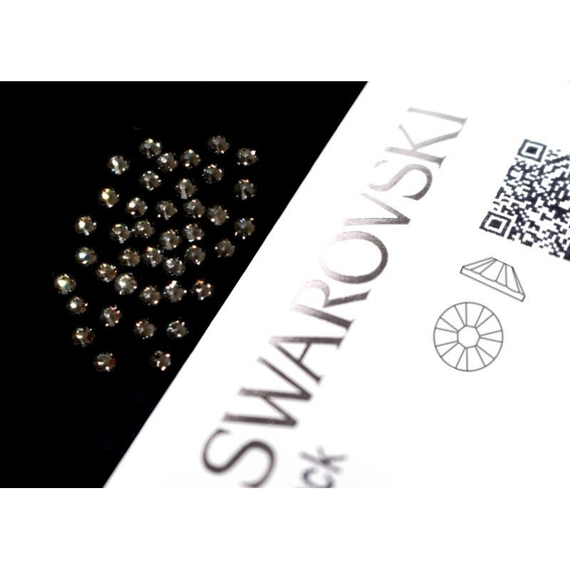 2058 Swarovski - Black Diamond 40st (ca.1.8mm)